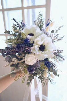 Blue Wedding Flowers, Bride Flowers, Silk Flowers, Colorful Flowers, Wedding Bouquets, Beautiful Flower Arrangements, Floral Arrangements, Beautiful Flowers, White Floral Crowns