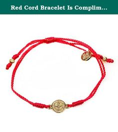 Red Cord Bracelet Is Complimented By a Gold Benedictine Medal, Which Is One of the Most Powerful Symbols of Protection. Each Bracelet Comes Displayed on a Card with Its Story and the Reminder of the Power of Prayer. In Time of Need, Run Your Finger Along the Simple String; Grasp the Medal and Breathe. By Simply Focusing Our Attention on Taking a Breath and Linking That Breath to God, We Can Dispel the Chaos of the World. Fashion.