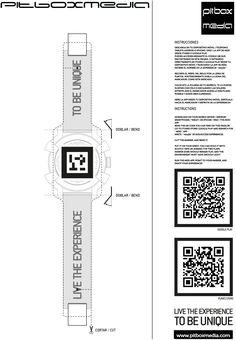 Marcador de Realidad Aumentada para visualizar un reloj digitalizado en 3D.... espectacular....