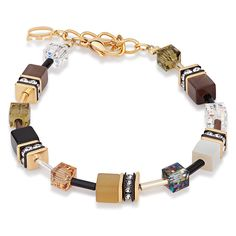 geo cube bracelet, coeur de lion jewelry, golden