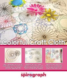 Design your own Spirograph cloth to use for all kinds of projects! Sew a small project bag or a pillow.whatever you come up with will be Spiro-tastic! Gear Drawing, Diy Stuff, Cool Stuff, Fabric Pen, Spirograph, Draw Your, Cool Diy, Design Your Own, Tapestry