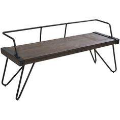 Stefani Wood Bench ($215) ❤ liked on Polyvore featuring home, furniture, benches, lumber furniture, timber furniture, wood furniture, wooden bench and wooden furniture