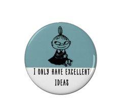 Little My Badge/Fridge Magnet - Moomin - Moomins - Cute - Sassy - Funny
