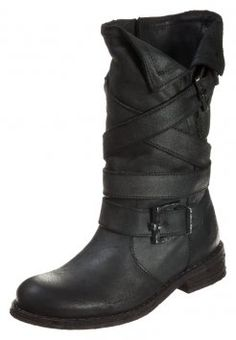 Felmini - GREDO - Stivali texani / biker - zenia black