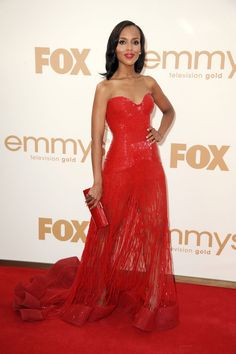 Pin for Later: 51 Times Starlets Wowed in Scarlet on the Red Carpet Kerry Washington