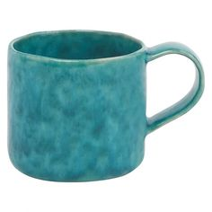 CONNOR Turquoise mug with a wide flat handle | Buy now at Habitat UK