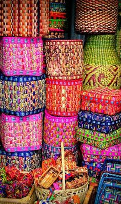 Love these colorful baskets