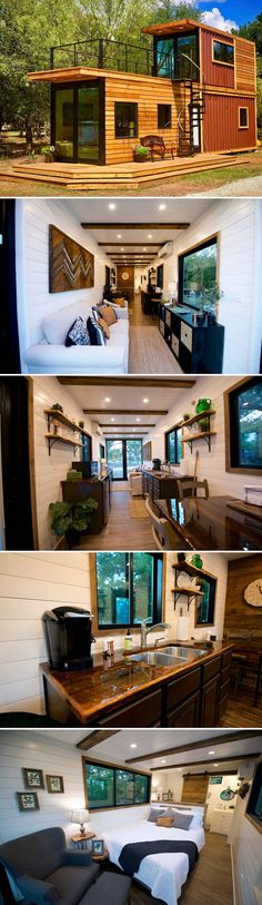 Helm by CargoHome &; Tiny Living Helm by CargoHome &; Tiny Living Alexander kevinheimann Tiny House From Waco Texas-based CargoHome is the Helm a two-story shipping […] Homes interior shipping containers Tiny House Cabin, Tiny House Living, Tiny House Design, Small House Plans, Cargo Home, Small Beach Houses, Casas Containers, Shipping Container Homes, Shipping Containers