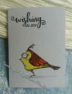 Crazy bird from Tim Holtz