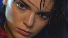 Wet hair, don't care:  Kendall's second turn on the calendar, having appeared as a Goddess last year, was shot at New York's Pier 59 Studios, where she was styled by Lysa Cooper