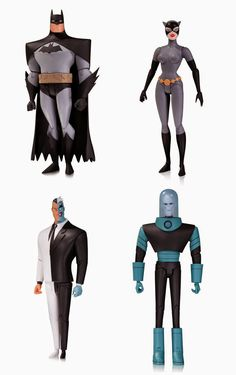 """Batman The Animated Series Wave 1 6"""" Action Figure by DC Collectibles - Batman, Catwoman, Two-Face & Mr. Freeze"""
