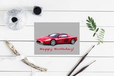 Excited to share this item from my shop: Ferrari Testarossa Birthday Card. Thank you card Anniversary card Cards For Boyfriend, Custom Cards, Anniversary Cards, Thank You Cards, Ferrari, Birthday Cards, Christmas Cards, My Etsy Shop, Messages