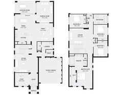 Home Designs Melbourne Simple Floor Plans, Small House Floor Plans, Modern Floor Plans, Open Concept Floor Plans, Floor Plans 2 Story, Two Story House Plans, Farmhouse Layout, Farmhouse Floor Plans, Double Story House