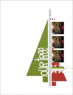 Christmas scrapbook layout: half tree