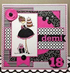 Bespoke 18th birthday card design