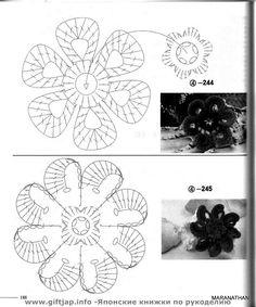 Flores Tejidas Varias - Poii Abalorios - Picasa Web Albums
