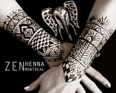 Moroccan henna forearm cuffs by zen henna montreal | photography and henna by  Lili sweet of Zen Henna Montreal. All rights reserved. Copyright, Lili Sweet, 2013