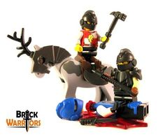You know when you're on your horse and your friend gets decapitated so you take out a trusty custom Lego weapon to seek malicious revenge on the minifig who did it? Well let the Hammerpick be that weapon!  It's weight and power allows your minifig to cause a lot of damage with just one swing. And even if the enemy is in armor, the sharp end can rip right through it. #Lego #Minifigure #BrickWarriors #toys #LegoAccessories #LegoWeapon #MinifigureAccessories #Hammerpick #LegoHammer #Knight…