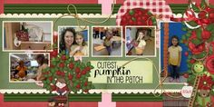 Pages made with Apple Orchard by #CarinGrobeDesign just $4.99 #thestudio #digitalscrapbooking