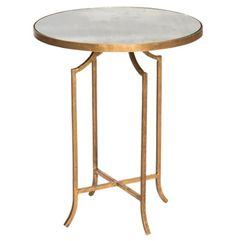 Fiji Hollywood Regency Gold Leaf Antique Mirror Round End Table - Set of 2 Kathy Kuo Home http://www.amazon.com/dp/B00HSQ5MHA/ref=cm_sw_r_pi_dp_sa82vb05VH8EV
