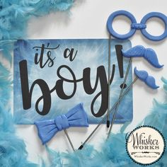 Gender Reveal Party Supply Kit - Boy or Girl - Set of 11 pink and blue photo booth props Gender Reveal Party Supplies, Reveal Parties, Party Mix, Party In A Box, Gender Reveal Photos, Diy Photo Booth, Party Props, 16th Birthday, Boy Or Girl