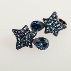 Blue Star Earrings www.claspandhook.com