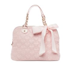 I love the Betsey Johnson Quilted Dome Satchel from LittleBlackBag