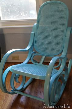I want an old rocking chair that I can repaint and put in the nursery DIY project for Dustin lol