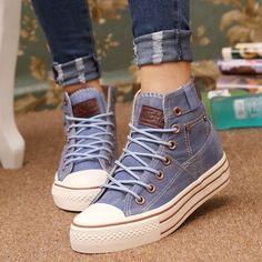 Resultado de imagem para denim shoes for girl