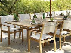 conjunto de comedor para jardn en madera de teca y textilene