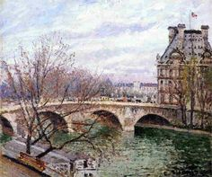 Camille Pissarro - The Pont Royal and the Pavillon de Flore, 1903