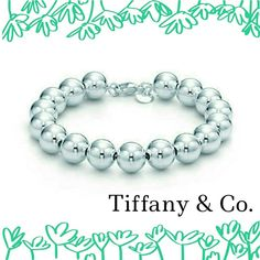 """Tiffany Bead Bracelet Authentic. Amazing condition. Sterling silver 925. Tiffany's well known bead bracelet. 7.5"""" long. Beads, 10 mm. Few scratches from everyday's wear but won't be too noticeable unless you stick your eyeballs onto it. Comes with its authentic pouch and shopping bag. No trade/pp. Final sale. Tiffany & Co. Jewelry Bracelets"""