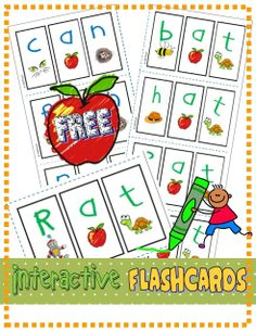 "*FREE* Practice letter/sound correspondence. (RF.K.2d) (Includes mini flashcards, vocabulary and ""wipe and write"" cards). #phonics"