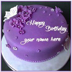 Happy Birthday Cake Writing, Happy Birthday Chocolate Cake, Happy Birthday Cake Pictures, Happy Birthday Wishes Cake, Birthday Cake With Photo, Beautiful Birthday Cakes, Happy Birthday Messages, Birthday Wishes With Name, Best Birthday Cake Designs