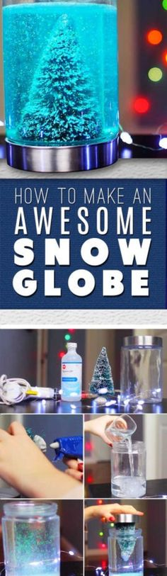 Here is a fun and easy craft perfect for the Christmas holiday.  Check out the video and picture tutorial for complete instructions on how to build this beautiful snow globe.
