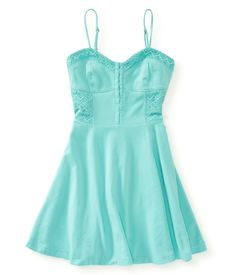 Solid Fit & Flare Dress from Aeropostale