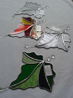 Glass Maple Leaf Sun-catcher by GlassHeartArt on Etsy