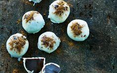 Karameltrøffelkugler med lakrids