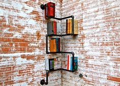 Industrial Piping, Recycled Into One of a Kind Shelving : TreeHugger