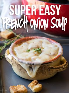 Onion Soup Recipes, Easy Soup Recipes, Healthy Diet Recipes, Vegetarian Recipes, Cooking Recipes, Easy French Recipes, Recipes Dinner, Cooking Ideas, Gourmet