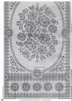 Discussion on LiveInternet - Russian Service Online Diaries Holiday Crochet Patterns, Crochet Doily Patterns, Crochet Motif, Crochet Designs, Crochet Doilies, Crochet Lace, Crochet Table Runner Pattern, Crochet Tablecloth, Filet Crochet Charts