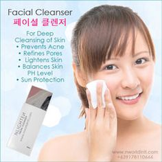 NLIGHTEN FACIAL CLEANSER (페이셜 클렌저) deeply cleanses, hydrates and lightens your skin without the harsh effects of too much alcohol found in other toners. Nlighten Products, Lighten Skin, Facial Cleanser, Korean Beauty, Sun Protection, Beauty Care, Your Skin, Lighter, Apple