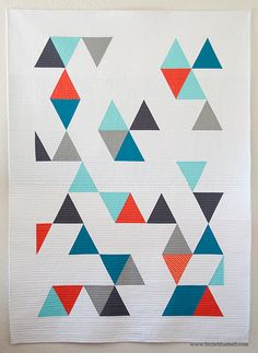 "Stunningly simple and beautiful ""Rebel Amish"" quilt by Adrianne Ove of Little Bluebell."