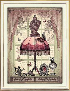 Vintage dress form in window Decoupage Vintage, Decoupage Paper, Vintage Diy, Vintage Labels, Vintage Ephemera, Vintage Cards, Vintage Paper, Vintage Sewing, Vintage Dress Forms