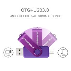 WANSENDA OTG USB 3.0 USB Flash drives Pen Drive for Android system 8GB 16GB 32GB 64GB 128GB External Storage 2 in 1 Pendrive  Price: 11.99 & FREE Shipping #computers #shopping #electronics #home #garden #LED #mobiles #rc #security #toys #bargain #coolstuff |#headphones #bluetooth #gifts #xmas #happybirthday #fun