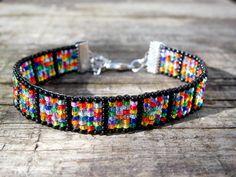 Beaded Bracelet Color Burst