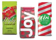 Gifts under $50 - Specialty coffee for Christmas morning - blends include Joy's She's Nuts, Tis the Season Peppermint Bark, Ugly Sweaters Creme Brulee
