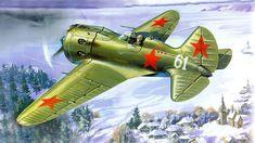 Airplane Painting Art Fighter Airplane Polikarpov I-16 Aviation photo