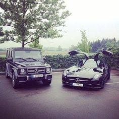 Mercedes benz g wagon and mercedes benz sls Mercedes Benz Sls, Mercedes Car, G Wagon, Range Rover, My Dream Car, Dream Cars, Royce, Bmw, Jaguar