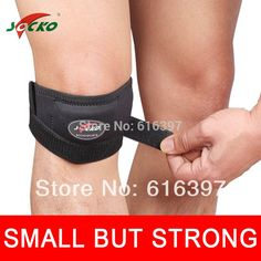 Adjustable Patella Knee Tendon Strap Protector Guard Support Pad Belted Sports Knee Brace Black 2231